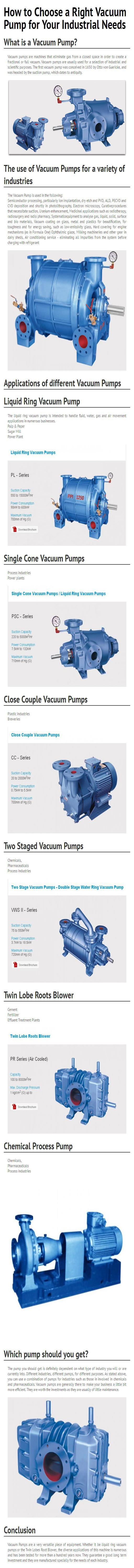 How to Choose a Right Vacuum Pump for Your Industrial Needs
